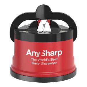 AnySharp Pro Metal Knife Sharpener Red/Black 6x6x5cm