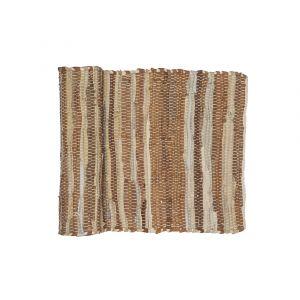 Amalfi Ocha Runner Brown Tones/Whites 140x1x35cm