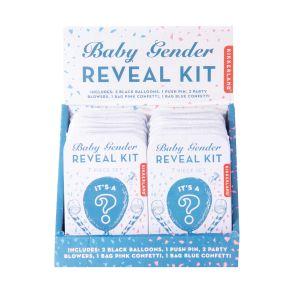 Kikkerland Gender Reveal Kit (12Disp) Blue 9.5x6x2cm