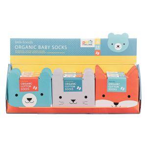 Petit Collage Organic socks (12Disp) Assorted 12x6x0.3cm