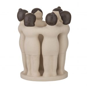 Amalfi Women Unite Sculpture Stone/Brown 19x19x25cm