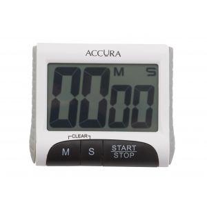 Accura Digital Timer 99 Min 59 Seconds White 8x3x7cm