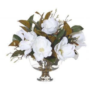 Rogue Magnolia Bud Mix-Dahlia Bowl White/Glass 54x50x51cm