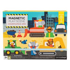 Petit Collage Construction Magnetic Play Scene Multicoloured
