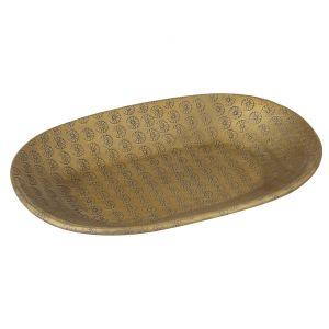 Davis & Waddell Ravi Oval Serving Dish Antique Gold 22x15x2cm