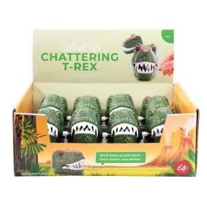 IS GIFT Wind Up Chattering T-Rex  Green