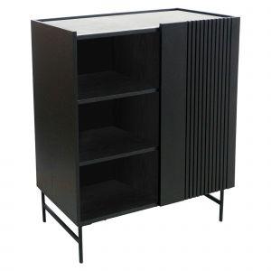 Amalfi Zenith Cabinet Black 80x40x95cm