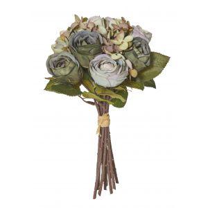 Rogue Rose/Hydrangea Bouquet Dusty Green 16x16x28cm