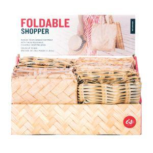 IS GIFT Foldable Shopper - Woven  assorted Designed in Australia