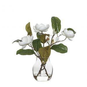 Rogue Chinese Magnolia Spray-Adina Vase White/Glass 28x25x34cm