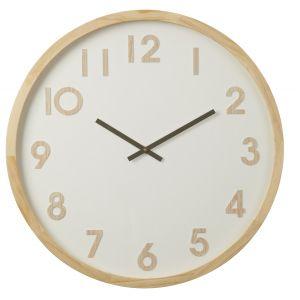 Amalfi Leonard Wall Clock Natural/White 61x6x61cm