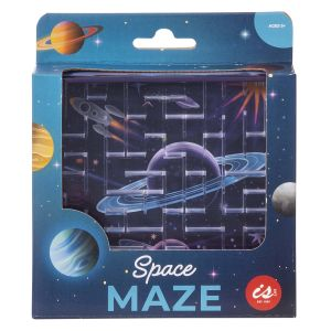 IS GIFT Space Maze  Blue Printed with solar system on the back