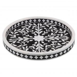 Amalfi Alaia Tray Black/White 35x35x3cm