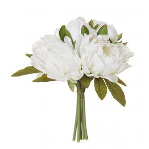 Rogue Peony Bouquet White 25x25x23cm