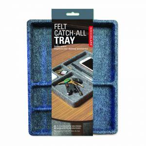 Kikkerland Felt Catch-All Tray Grey 31 x 22 x 2.5cm