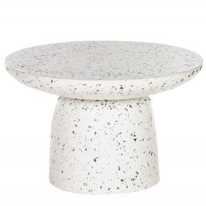 Amalfi Lucas Coffee Table White/Black 70x70x45cm