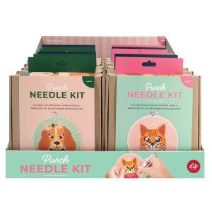 Is Gift Punch Needle Kit - Amusing Animals (3Asst/12Disp) Assorted 16x1.5x17cm
