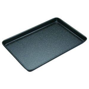 MasterPro Professional Vitreous Enamel Baking Tray Black External 40x27x2.5cm/Internal 38x25x2.5cm