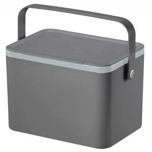 EKO Deco Food Waste Caddy 22.5x16.2x14.2cm/4L Grey/Blue