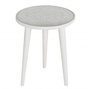 Amalfi Nayana Table (KD) White 45x45x45cm