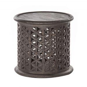 Amalfi Jali Side Table Antique Grey 45x45x42cm
