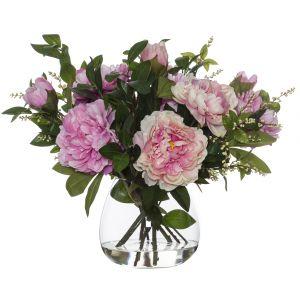 Rogue Peony Nite Berry Mix-Garden Vase Pink/Glass 54x57x48cm