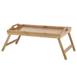 Davis & Waddell Bamboo Breakfast Tray Natural 50x30x21cm (legs extended)