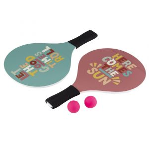 Emporium Fruit Salad Beach Paddles w/ Two Balls in Bag Good Times Roll/Here Comes Sun 38x24x0.8cm
