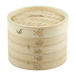 Davis & Waddell 2 Tier Bamboo Steamer Natural 17.5x17.5x15cm