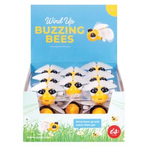 IS GIFT Wind Up Buzzing Bees  Yellow