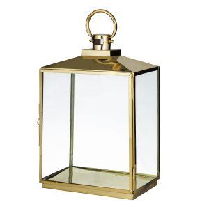 Society Home Hughes Lantern Gold 34x22x54cm