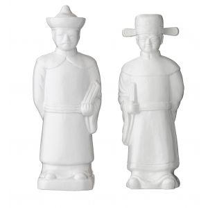 Society Home Mr Wu Sculpture 2 Asst Designs White 9x7x25cm