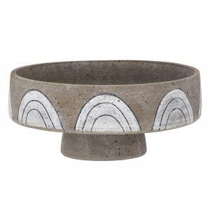 Amalfi Arkett Footed Bowl Stone/White/Black 29x29x13cm