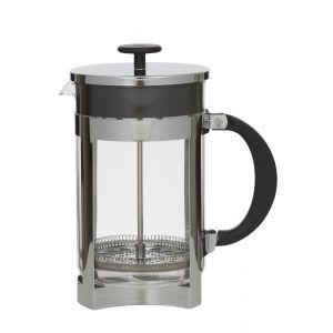 Leaf & Bean Berlin Plunger Clear/Stainless Steel/Black 20x12.5x23.5cm/12 cup/1.5L