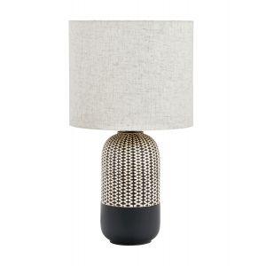 Amalfi River Table Lamp Black/Natural 30x30x55cm
