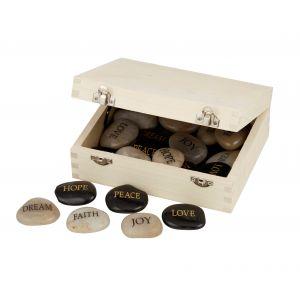 Amalfi Polished Stone Inspirational Words 6 Asst Designs 6 Hope/6 Peace/6 Love/6 Dream/6 Faith/6 Joy 24 Asst