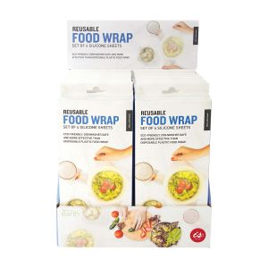 IS GIFT Reusable Food Wrap   Clear Set of 4