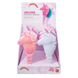 Is Gift Unicorn Fantasy Hairbrush (3Asst/12 Disp) Assorted 26x11.2x5cm