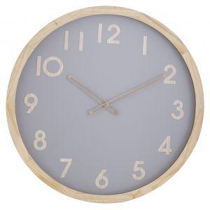 Amalfi Riley Wall Clock Natural/Grey 50x50cm