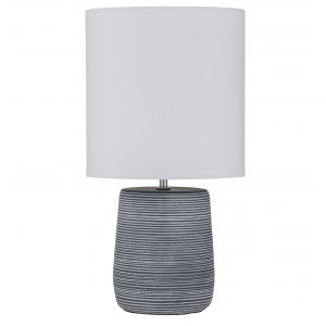 Amalfi Wren Table Lamp Blue/Ivory 25x25x50cm