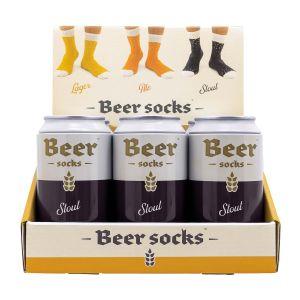 Luckies Beer Socks - Stout  Blue