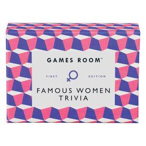 Games Room Famous Women Quiz Multi-Coloured 13x9x5.5cm