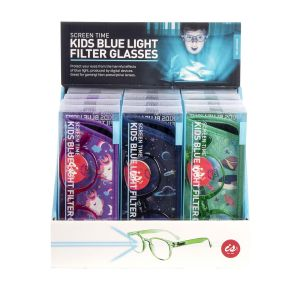 IS GIFT Screen Time Kids Blue Light Filter Glasses  assorted Each set of glasses comes with a printed case. Designed in Australia