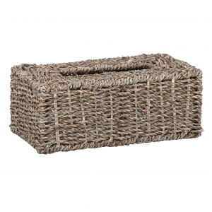Amalfi Gilli Rectangular Tissue Box Natural 26x14x10cm