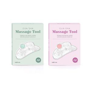 IS GIFT Crystal Gua Sha Massage Tool   assorted Jade and Rose Quartz