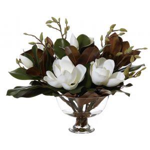 Rogue Magnolia Mix-Dahlia Bowl White/Glass 60x60x56cm