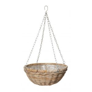 Rogue Rattan Hanging Bowl with Liner Natural 50x50x80cm