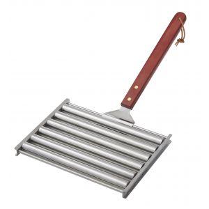 Davis & Waddell BBQ Sausage Roller Stainless Steel/Natural 47x23x3cm