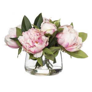 Rogue Peony-Rounded Classic Bowl Pink/Glass 33x30x23cm