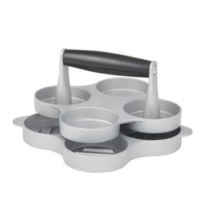 Davis & Waddell Slider Mini Burger Press Grey/Black 17x17x8.5cm/Makes D7cm Burgers